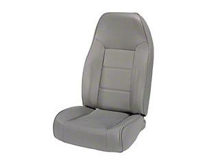 Rugged Ridge Standard Front Bucket Seat, Gray (87-02 Wrangler YJ & TJ)