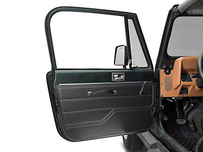 Omix-ADA Door Panel, Left, Black (87-95 Wrangler YJ w/ Full Doors)