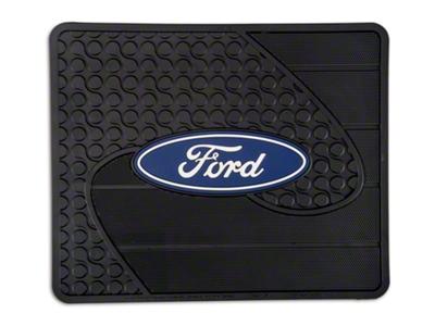 ford logo rear utility floor mat 09 15. Black Bedroom Furniture Sets. Home Design Ideas