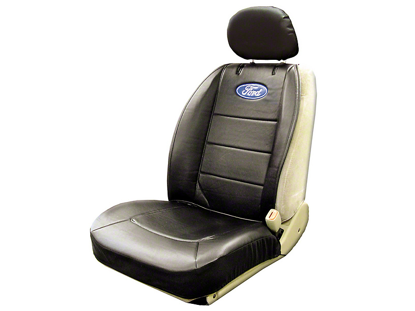 F 150 Oval Logo Embroidered Sideless Seat Cover W Head