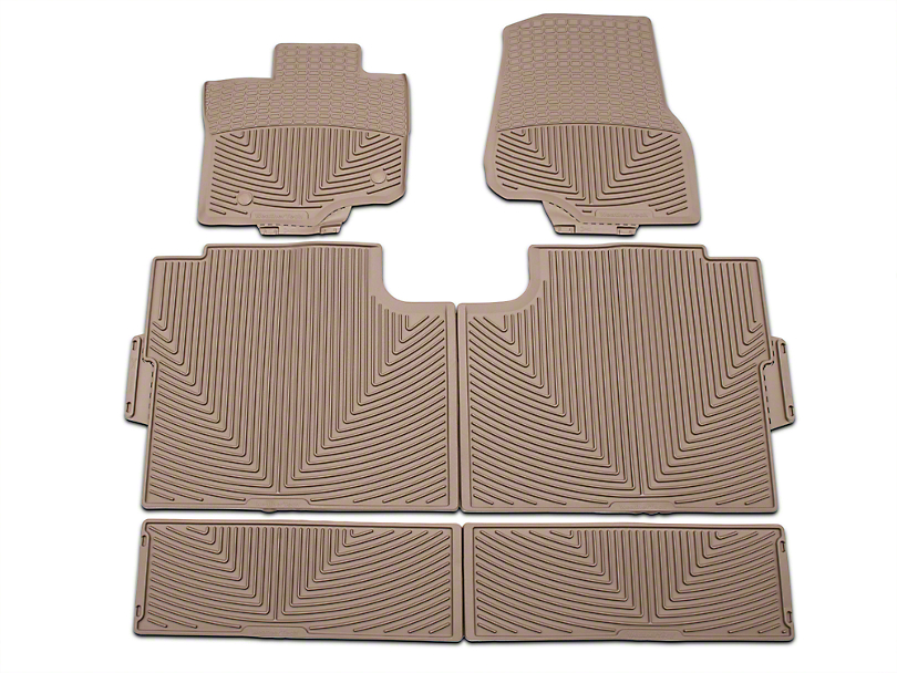 weathertech f 150 all weather front rear and under rear seat rubber floor mats tan w345tn. Black Bedroom Furniture Sets. Home Design Ideas