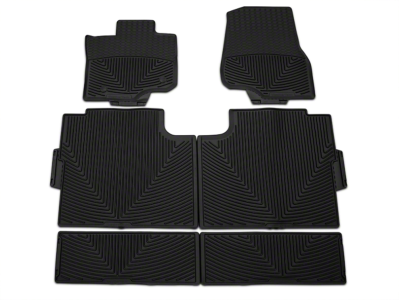 weathertech f 150 all weather front rear and under rear seat rubber floor mats black w345 w346. Black Bedroom Furniture Sets. Home Design Ideas