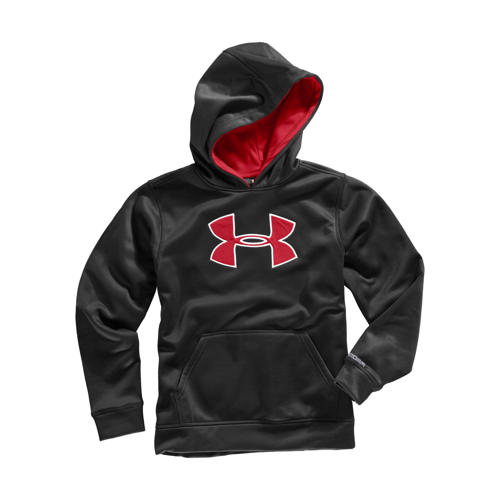 Under Armour Boys' Armour Fleece Storm Big Logo Pullover Hoodie