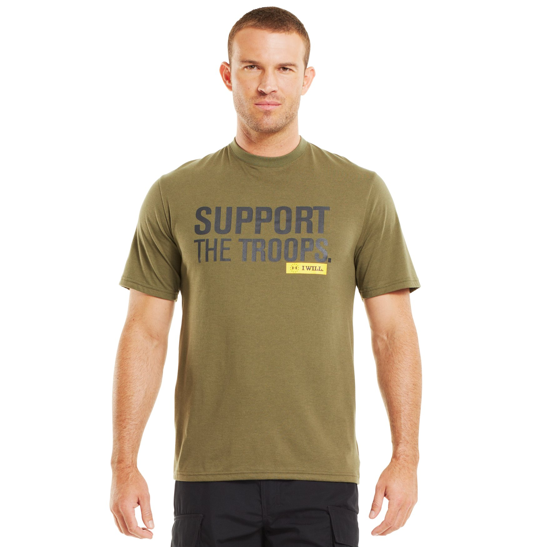 Under Armour Mens UA Tactical Support T Shirt-Shirt Large Marine OD Green