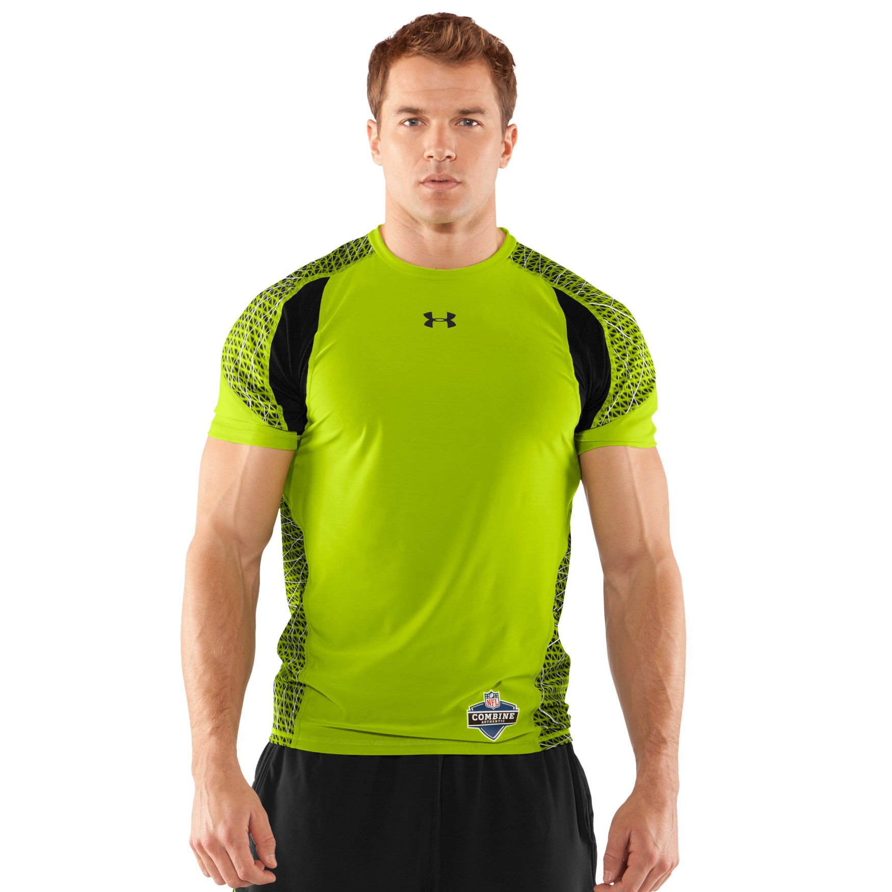 Ryan asks about men s nfl combine authentic warp speed for Under armour fitted t shirt