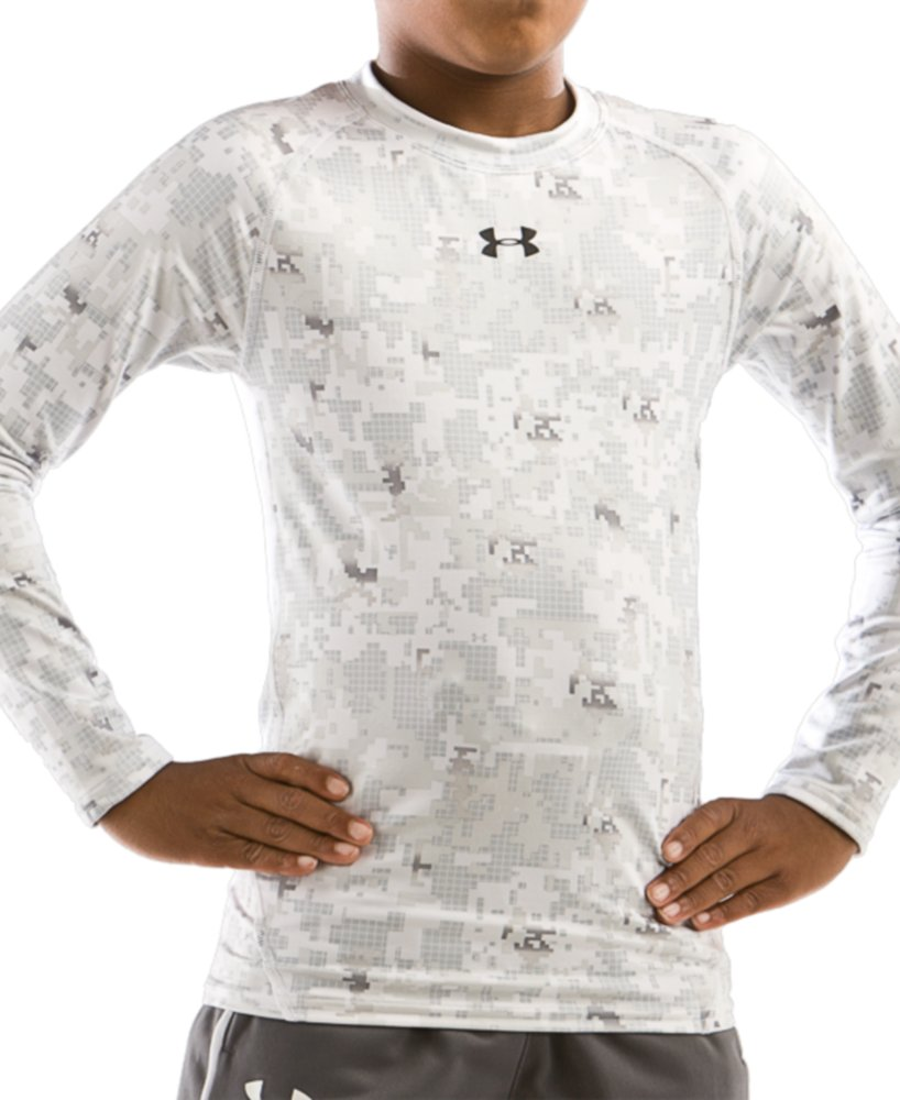 Under Armour Evo ColdGear White Grid Camo Crew