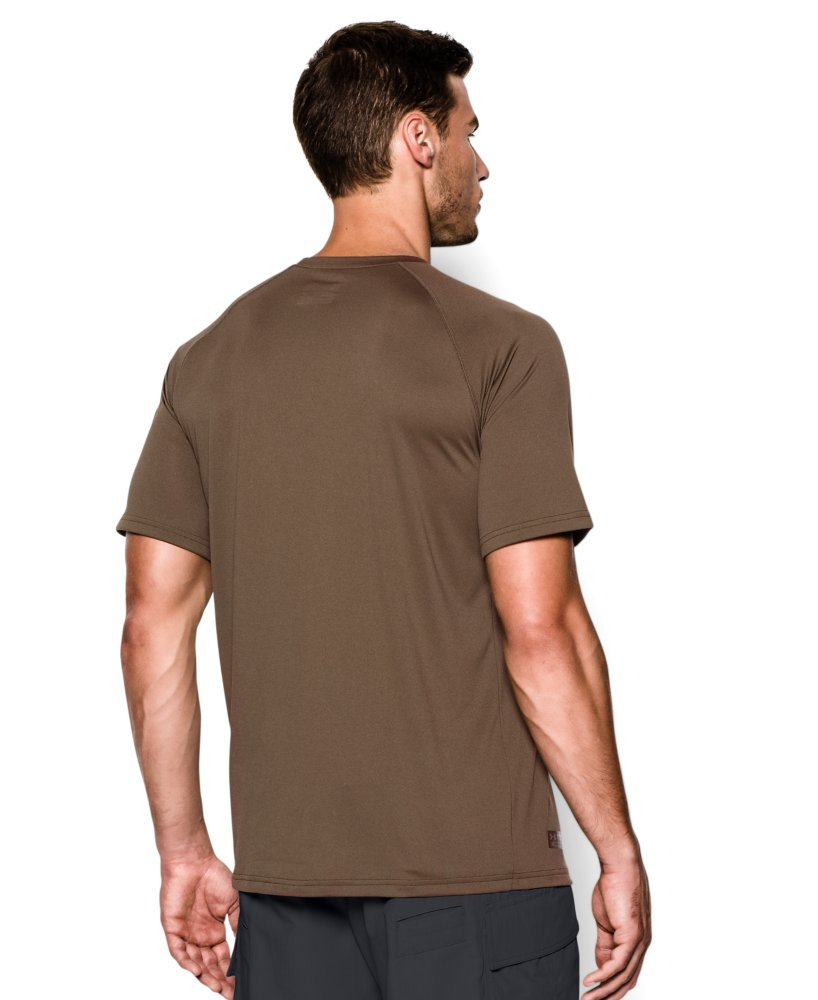 Men 39 s under armour tactical tech short sleeve t shirt for Under armour brown t shirt