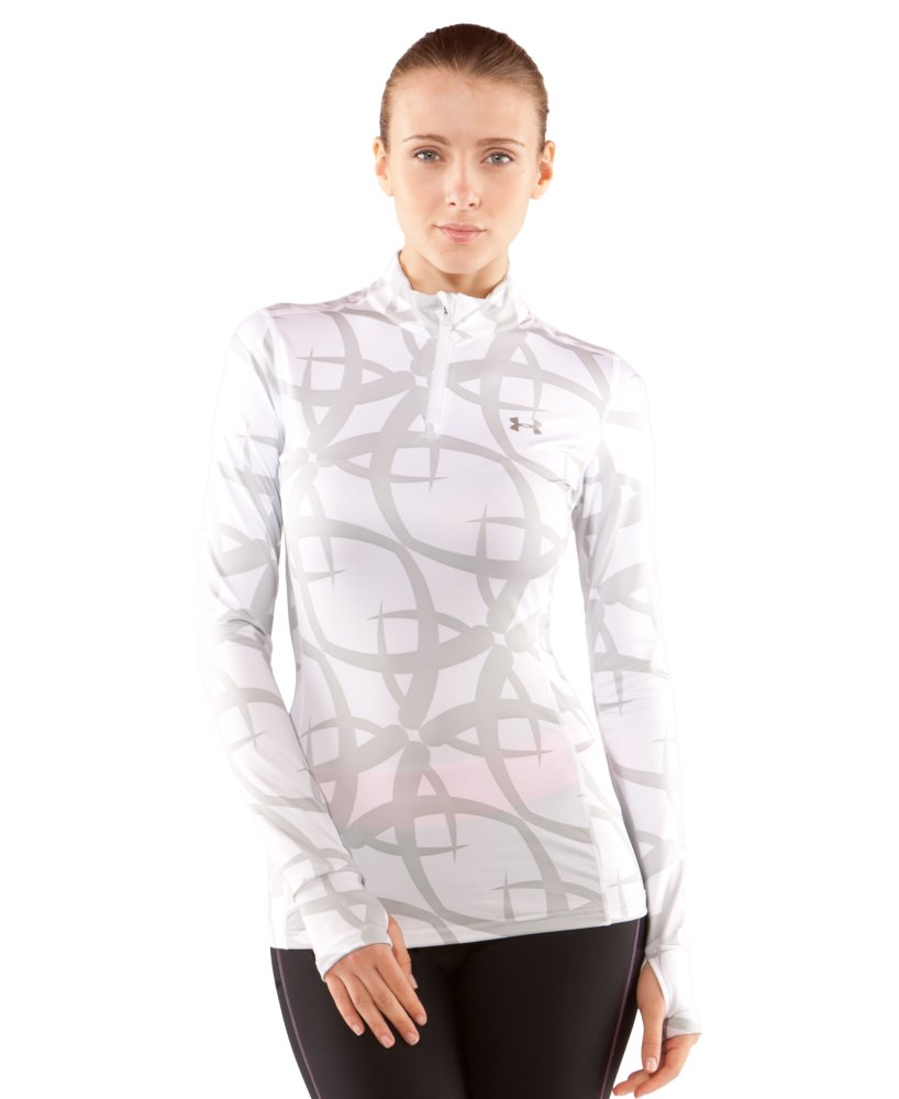 Under Armour Printed ColdGear Fitted 1/4 Zip