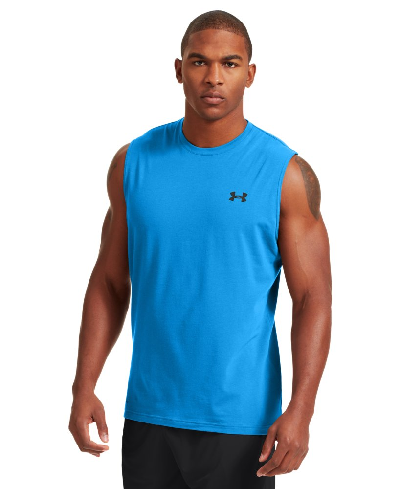 Under Armour Men 39 S Charged Cotton Sleeveless T Shirt Ebay