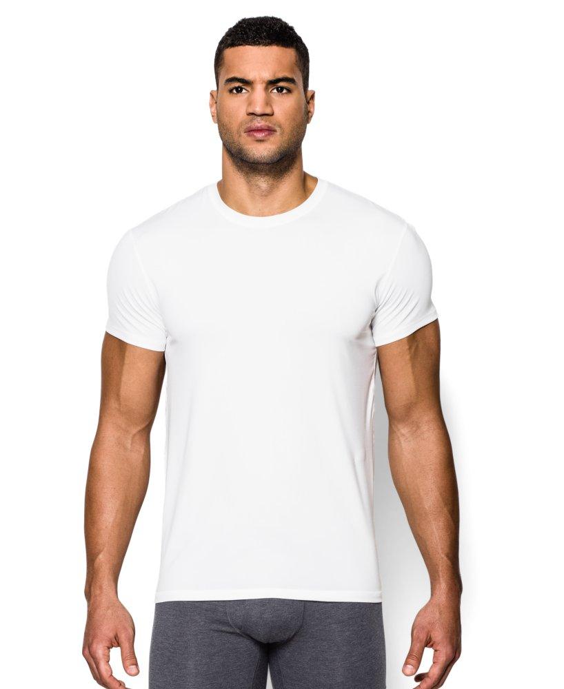 Men 39 s the original under armour fitted crew undershirt ebay for Mens under armour under shirt