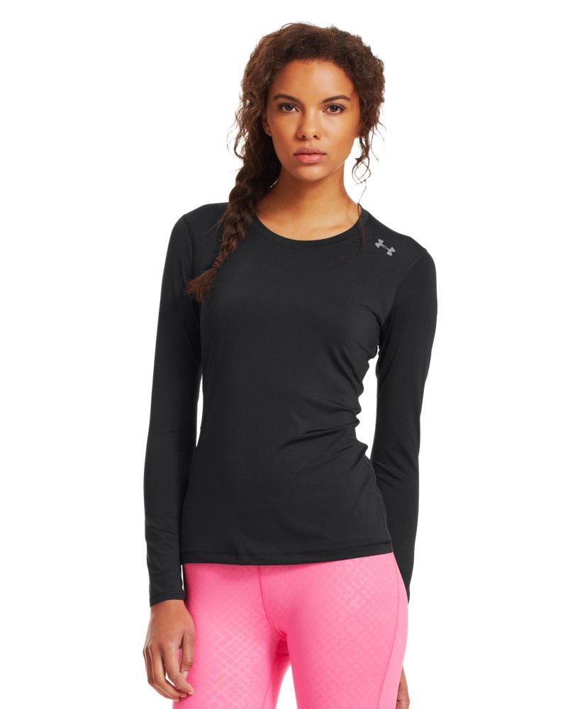 Under armour women 39 s heatgear sonic long sleeve ebay for Under armour long sleeve t shirts women