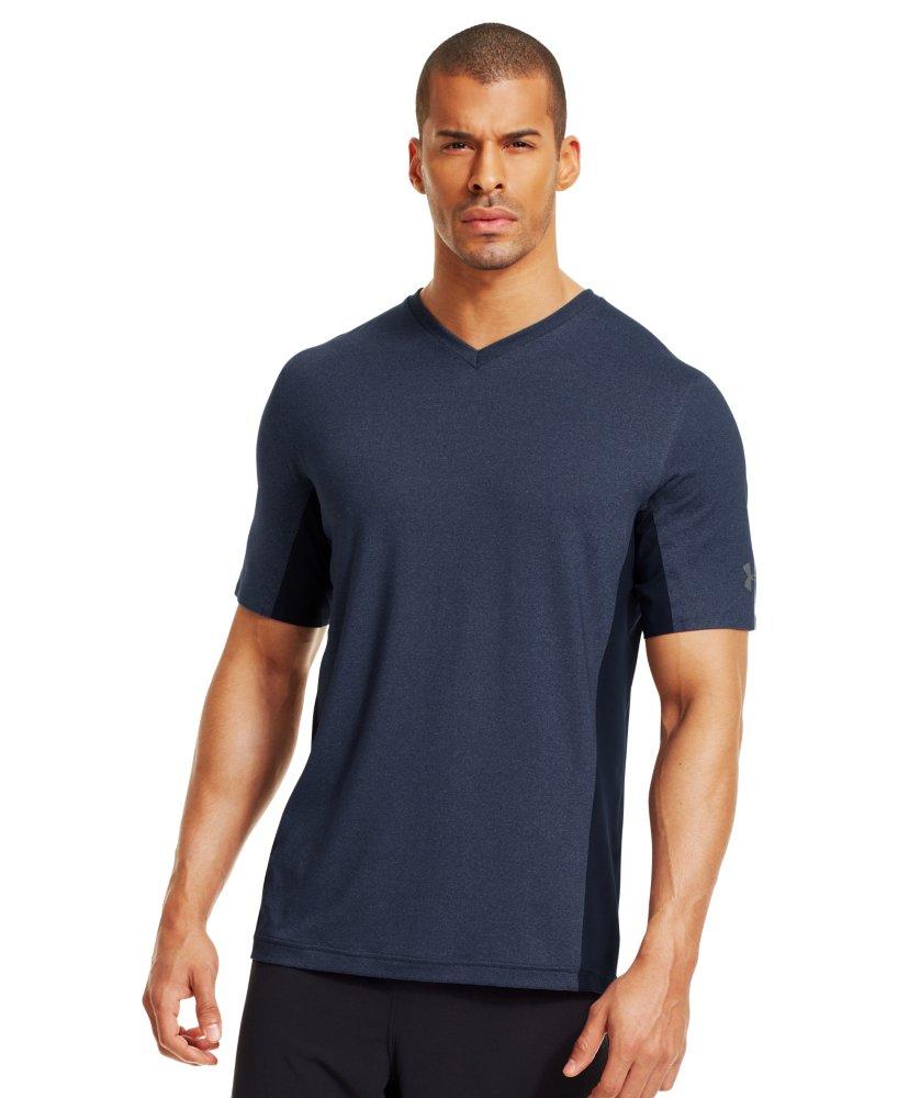men 39 s under armour station v neck t shirt ebay