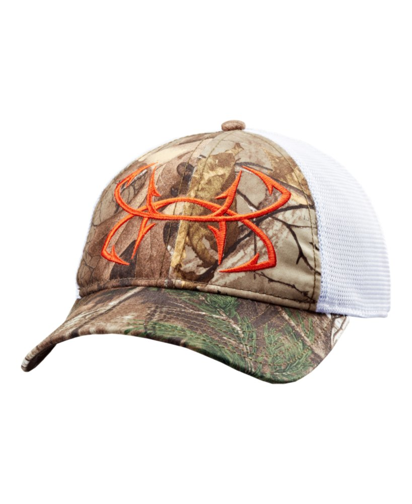 Men 39 s under armour fish hook camo adjustable cap ebay for Fish hook on hat