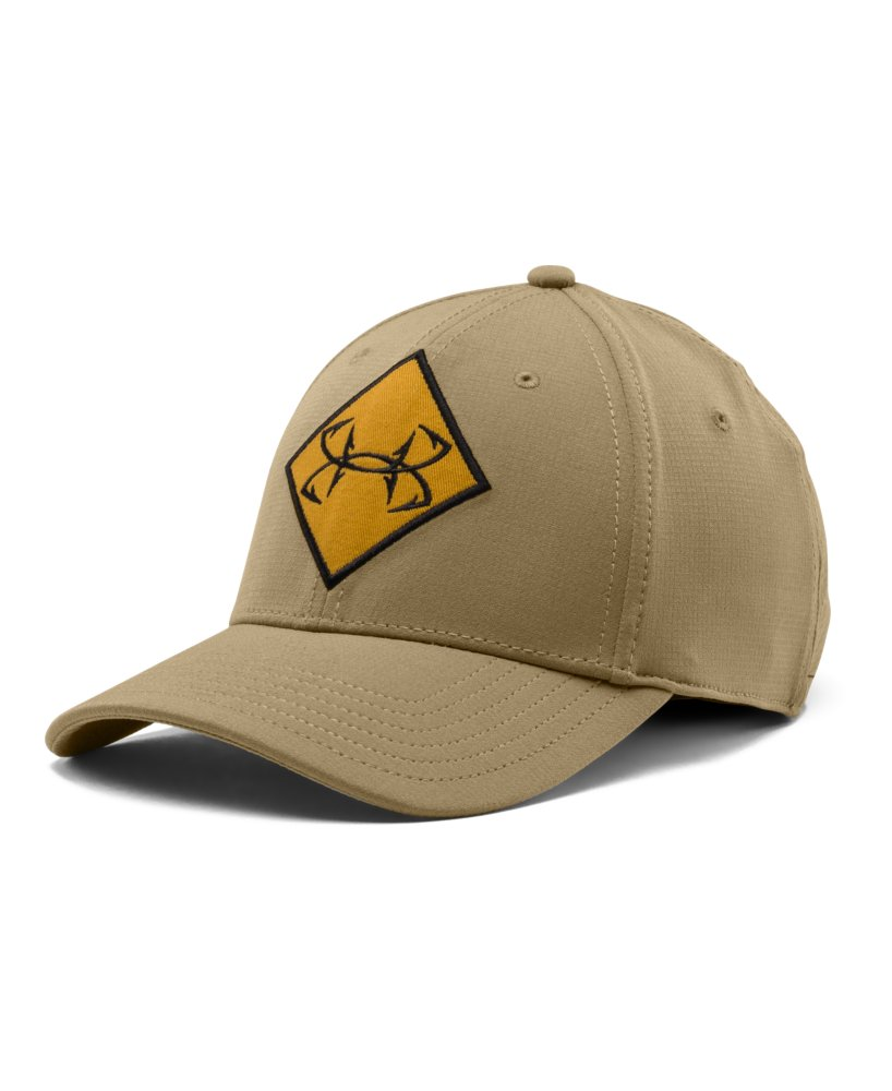 Mens under armour fish ripstop stretch fit cap for Under armor fishing hat