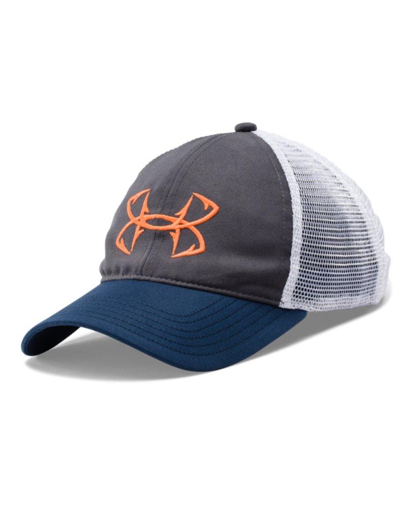 Men 39 s under armour fish hook logo cap ebay for Under armour fish hook hat