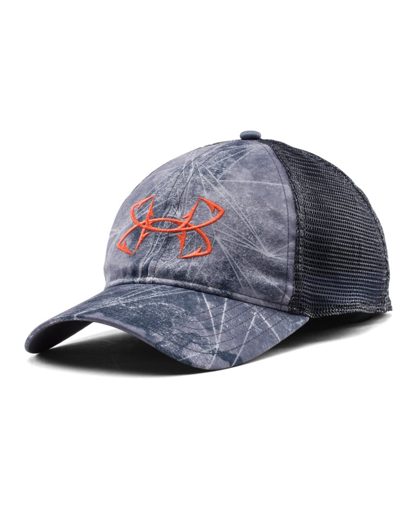 Men 39 s under armour fish hook logo cap ebay for Under armor fishing hat