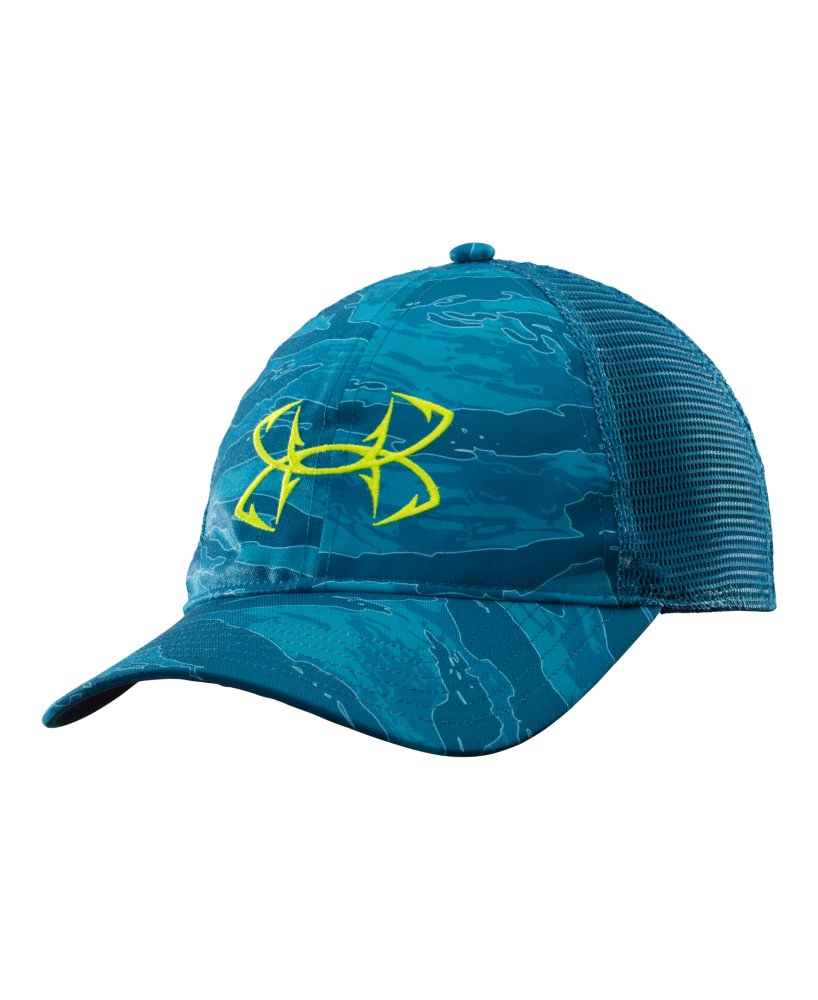 Men 39 s under armour fish hook logo cap ebay for Under armour fishing