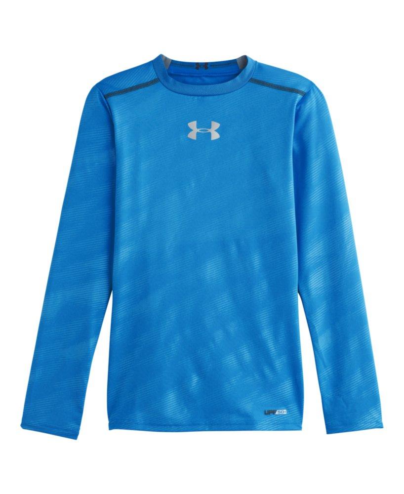 Under armour boys 39 heatgear sonic fitted long sleeve ebay for Under armour men s heatgear sonic fitted t shirt