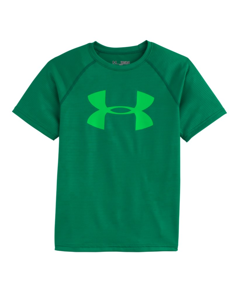 boys 39 under armour big logo embossed t shirt ebay ForUnder Armour Big Logo T Shirt