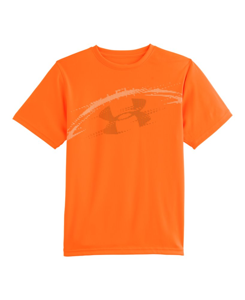 Boys 39 under armour football show me sweat t shirt ebay for T shirts that don t show sweat