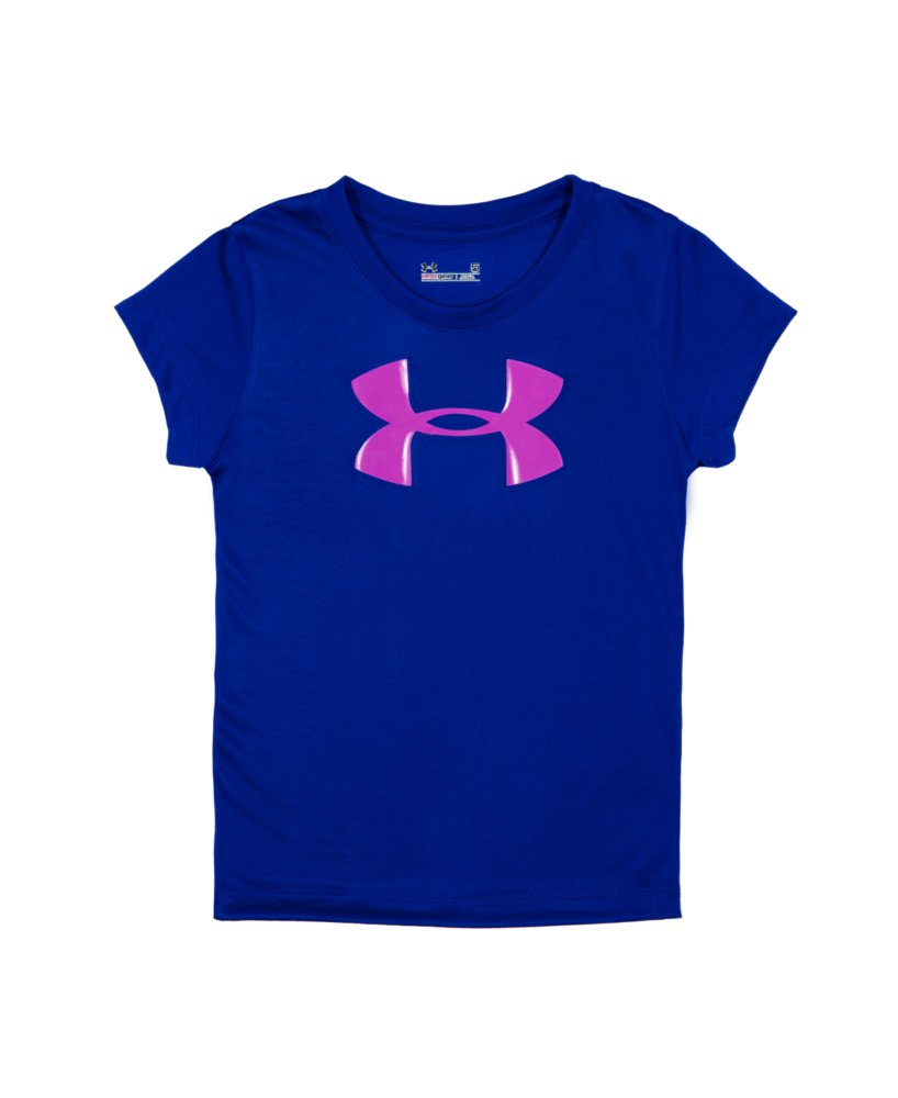 Girls infant under armour big logo short sleeve t shirt for Under armour shirts for kids