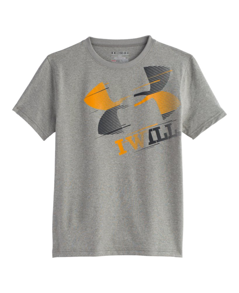 Boys 39 under armour i will t shirt ebay for Under armour i will shirt