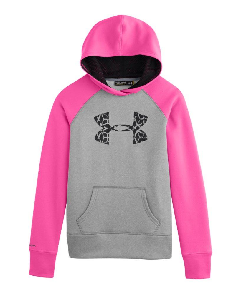 Under Armour Girls Armour Fleece Storm Big Logo Hoodie eBayUnder Armour Sweatshirts For Girls