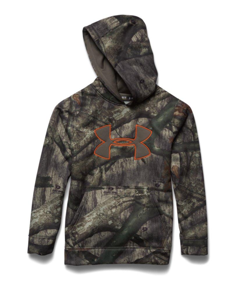 Under armour youth camo big logo hoodie