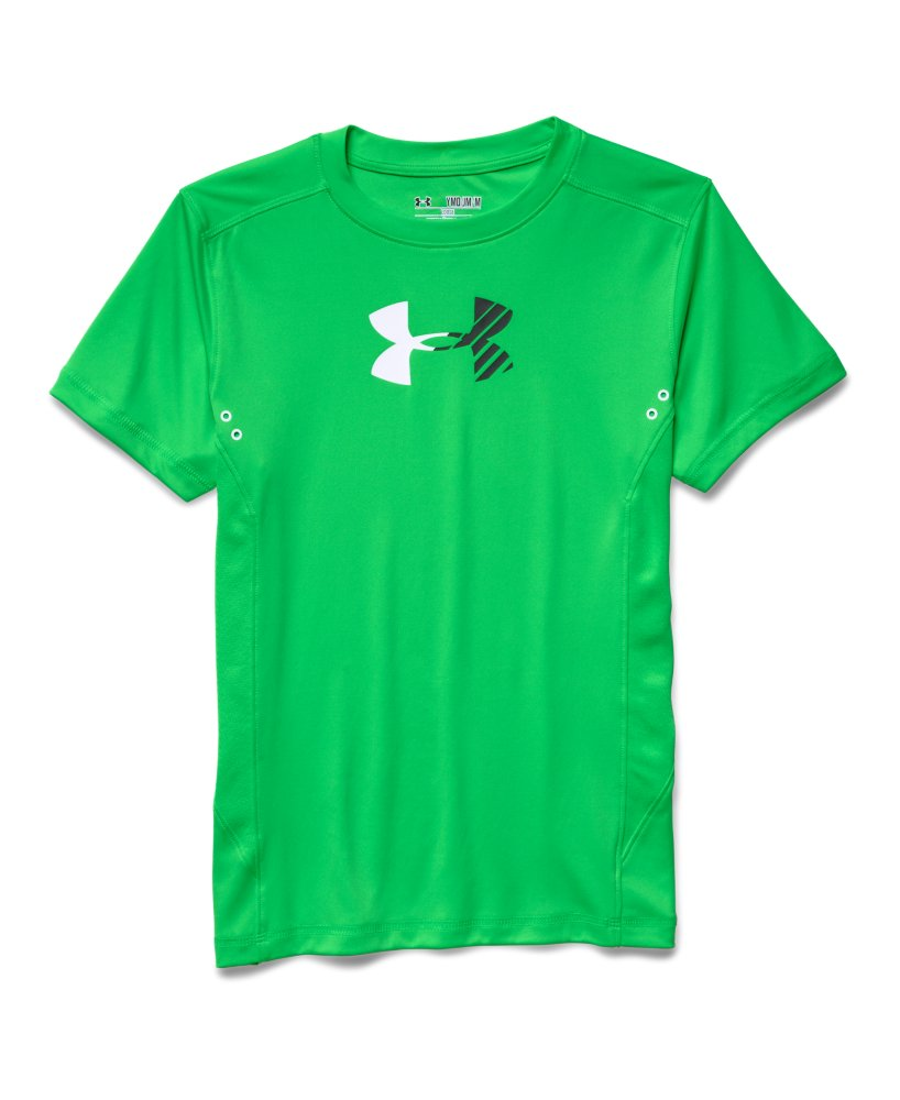 Boys 39 under armour show me sweat upf t shirt ebay for Sweat free t shirts