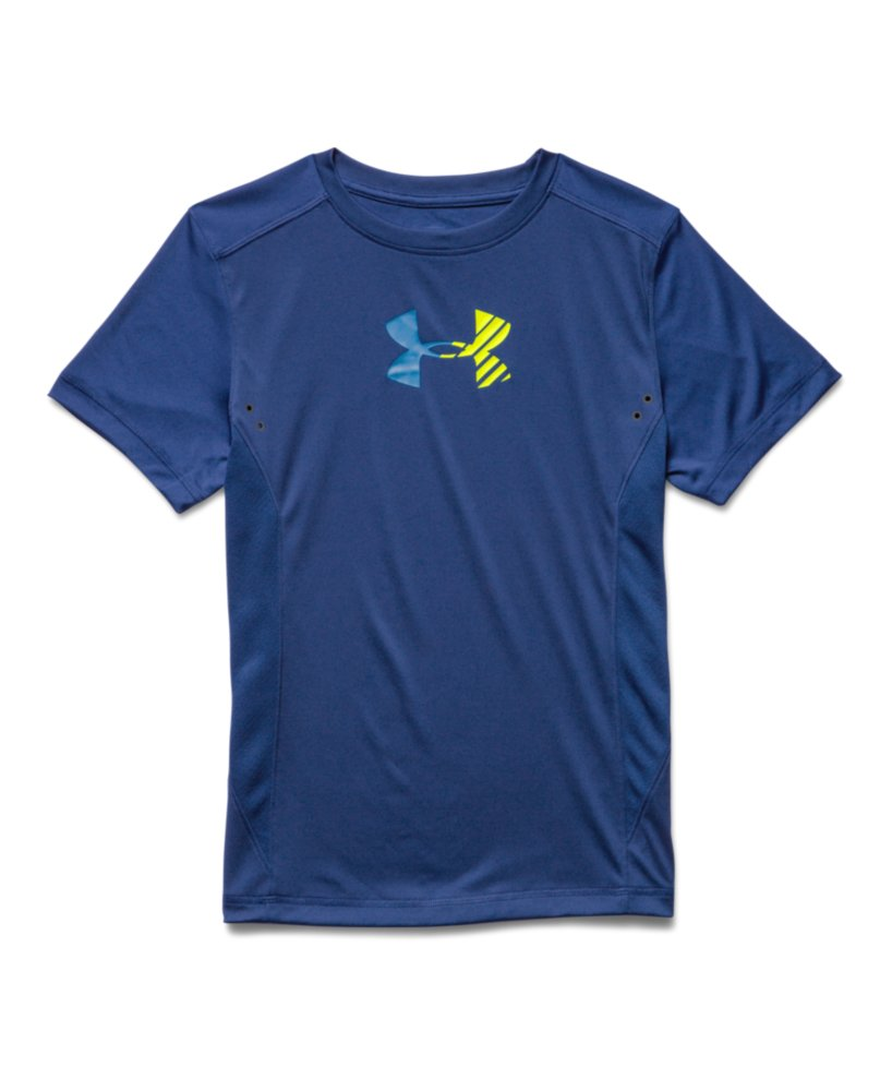 Boys 39 under armour show me sweat upf t shirt ebay for T shirts that don t show sweat