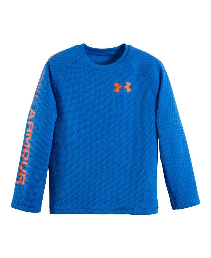 Boys 39 pre school under armour dynamism long sleeve t shirt for Yellow under armour long sleeve shirt