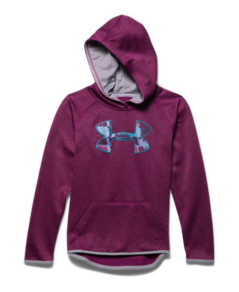 Girls Under Armour Armour Fleece Printed Big Logo HoodieUnder Armour Sweatshirts For Girls