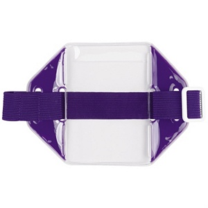 Purple Reflective Armband ID Holder