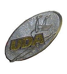 UDA Glitter Oval Logo Pin