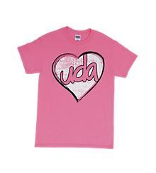 UDA Pink Heart Tee
