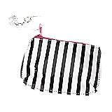 Black & White Striped Coin Purse