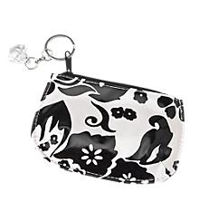 Black & White Flowered Coin Purse