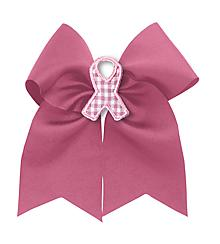 Varsity Mascot bow buddies® - Pink Ribbon