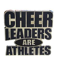 Cheerleaders Are Athletes Pin