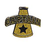 Captain Gold Megaphone Pin