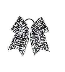 Black & White Cheer Bow