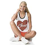 Animal Print Heart Loose Tank - Cheer