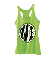 Dance Chevron Hot Green Loose Tank