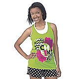 Hot Green Cheer Loose Tank