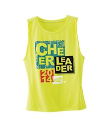 Cheerleader 2014 Neon Yellow Muscle Tank