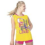 Neon Yellow Cheerleader Muscle Tank