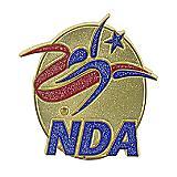 NDA Glitter Logo Pin