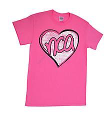 NCA Pink Heart Tee