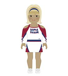 NCA All-Star National Championship Doll Uniform Light Skin