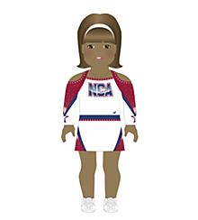 NCA All-Star National Championship Doll Uniform Medium Skin